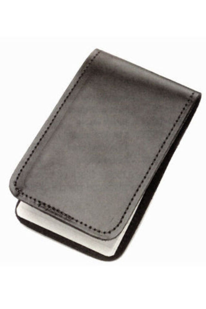 Well-known Police Black Leather Duty Memo Book Note Pad Holder Cover Case  ER62