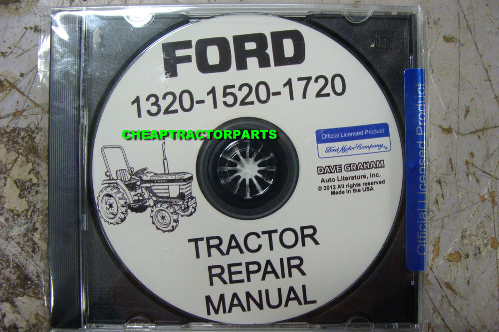1320 1520 1720 Ford Tractor Repair Manual On Cd