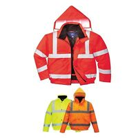 Portwest Hi Vis High Visibility Yellow or Red Safety Traffic Bomber Jacket S463