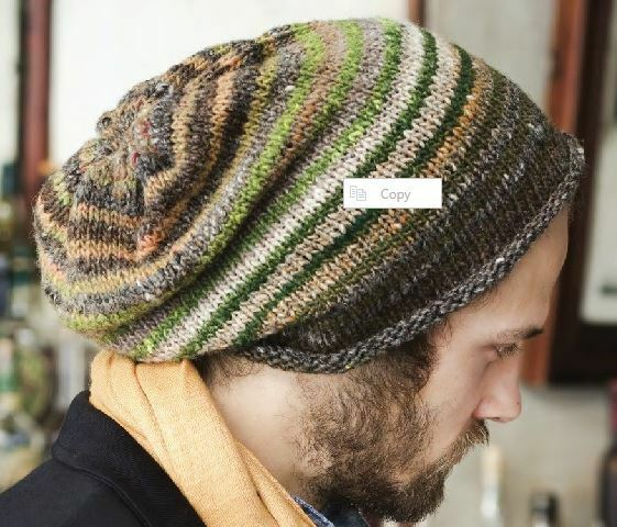 Knitting Hat Patterns Round Needles : Slouch Hat Pattern - Very Easy - Knitting - circular ...