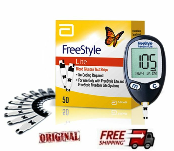 New Freestyle Freedom Lite Blood Glucose Test Strips No