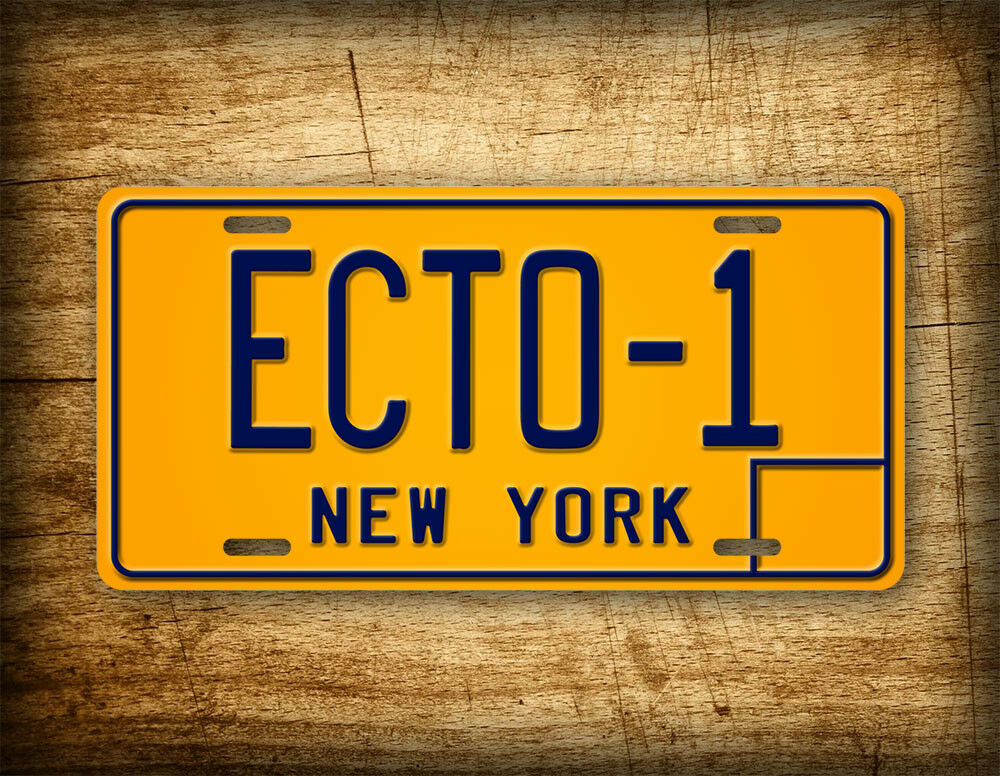 "Car Tags: Ghostbusters Movie Replica License Plate ""ECTO-1"" New York"