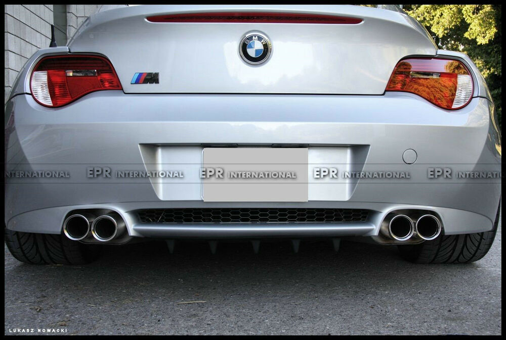 New Rear Bumper Diffuser Lip For Bmw E85 E86 Z4 Z4m 02 08 Roadster Frp Racing Ebay