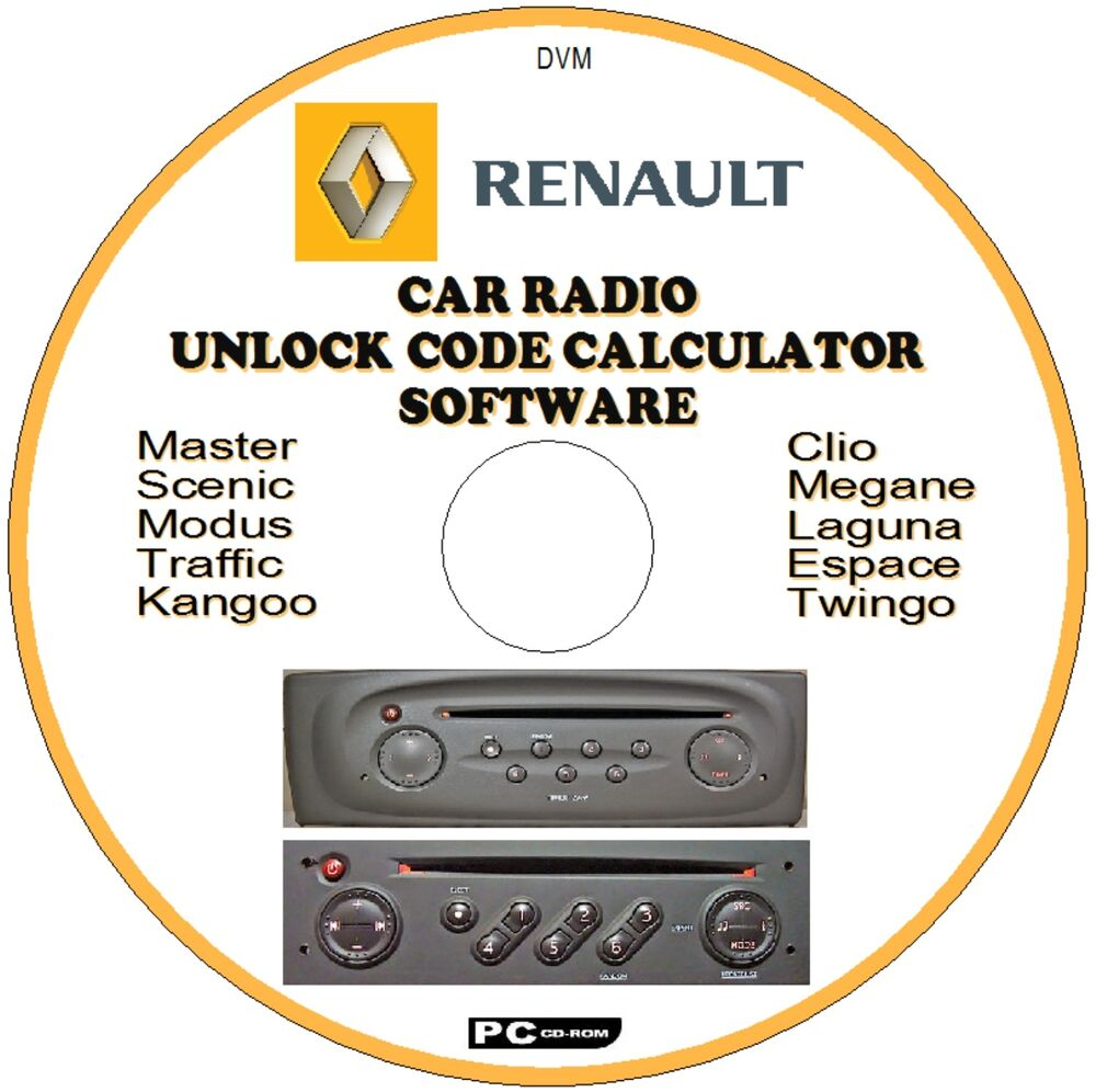renault car stereo radio code recovery unlock decode cd espace twingo scenic etc ebay. Black Bedroom Furniture Sets. Home Design Ideas