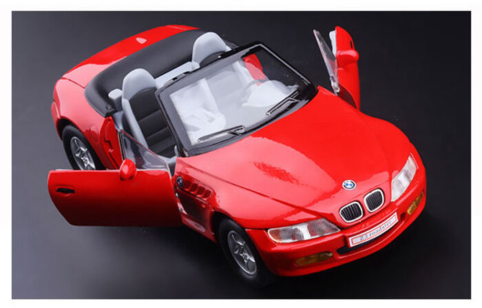 Red 1 28 Scale Bmw Z3 Diecast Model Car 1 28 Doors Open