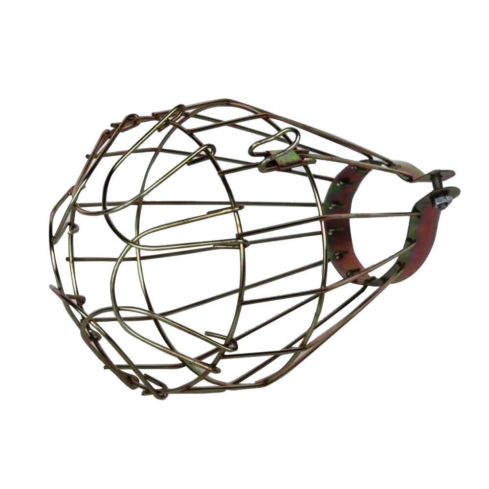 Vintage Industrial Wire Edison Bulb Cage Clamp On Lamp