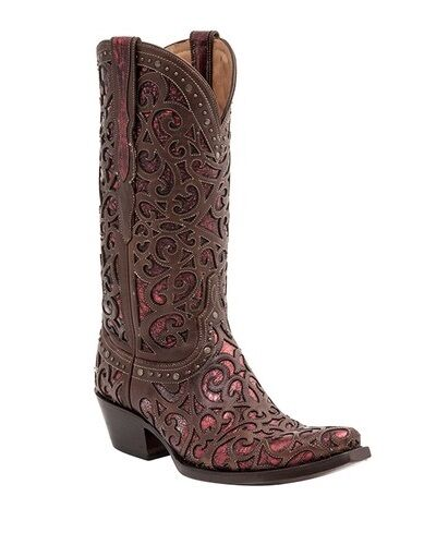 lucchese m4840 womens whiskey metallic studded leather