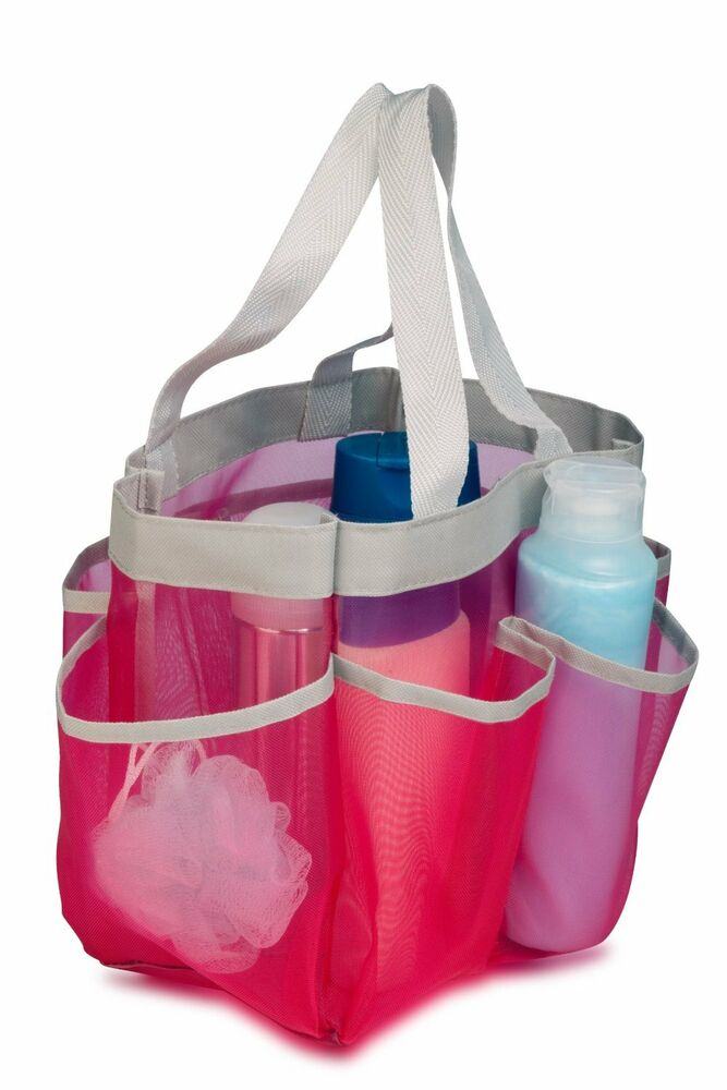 Pink Quick Drying Shower Tote Bag 689742982494 | eBay