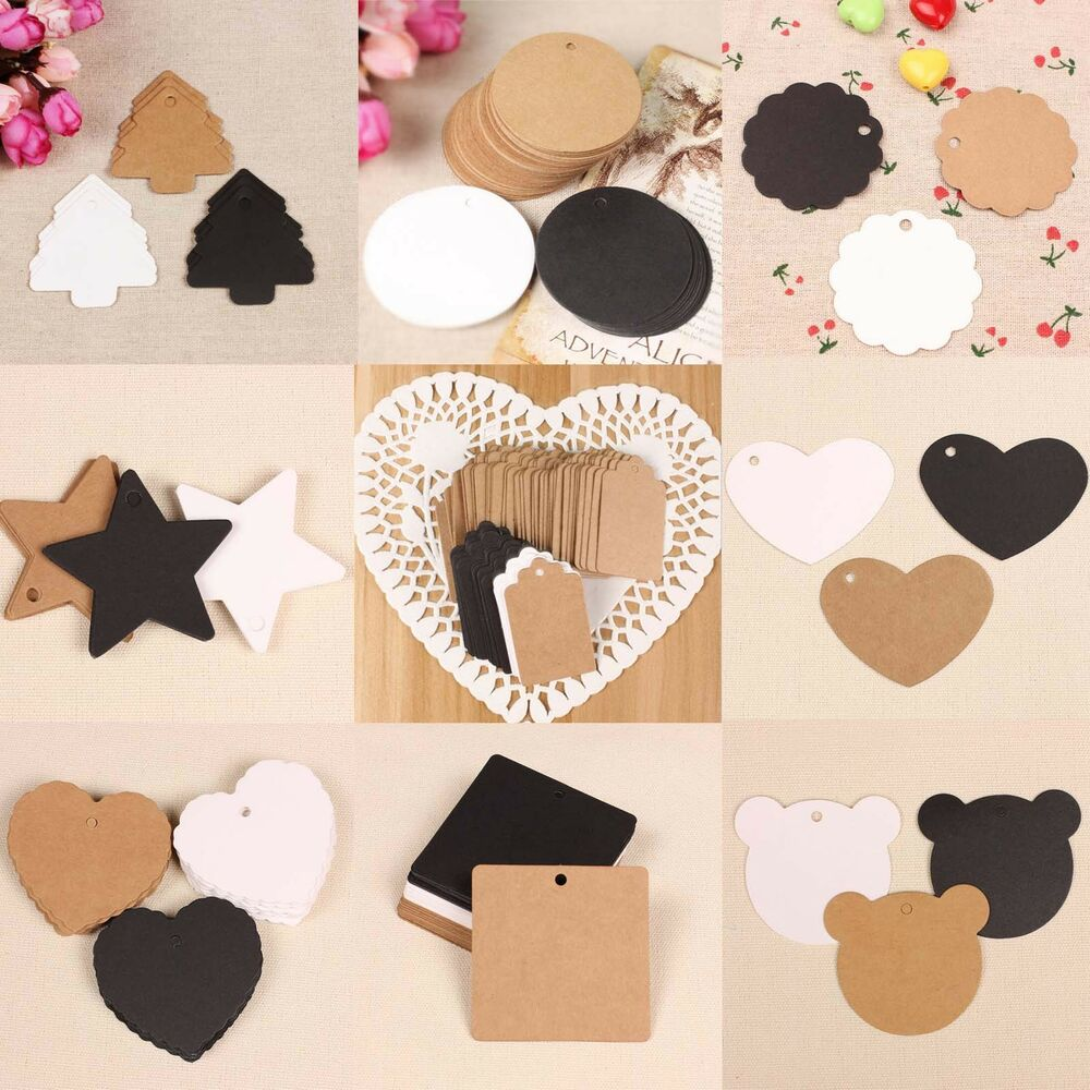 Average Cost Of Wedding Gift: 100 Blank Brown Kraft Paper Hang Tags Wedding Party Favor