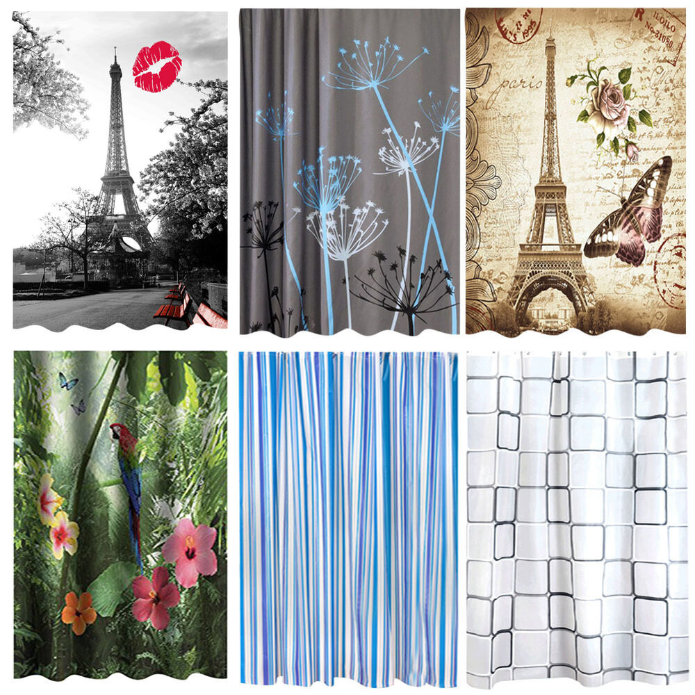 Modern Quality Bathroom Bath Shower Curtains Waterproof