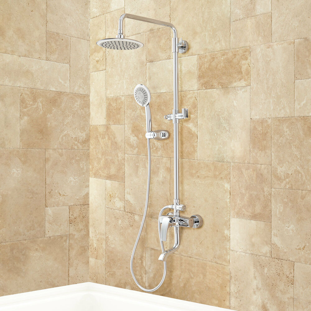 Regan Exposed Pipe Tub And Shower Set With Hand Shower Ebay