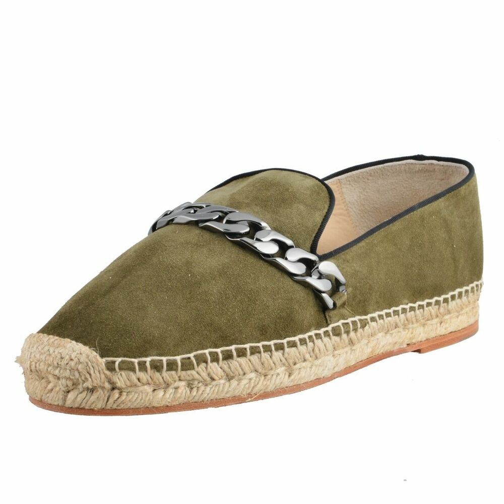 Green Mens Leather Loafers Or Driving Shoes