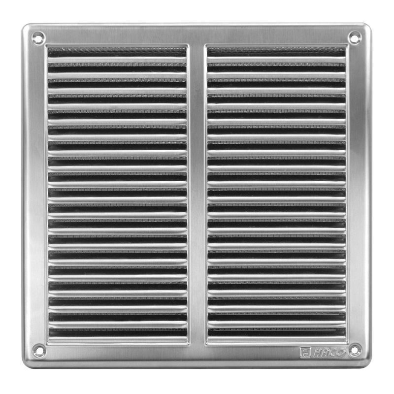 Stainless Steel Air Grille : Stainless steel air vent grille covers with fly screen