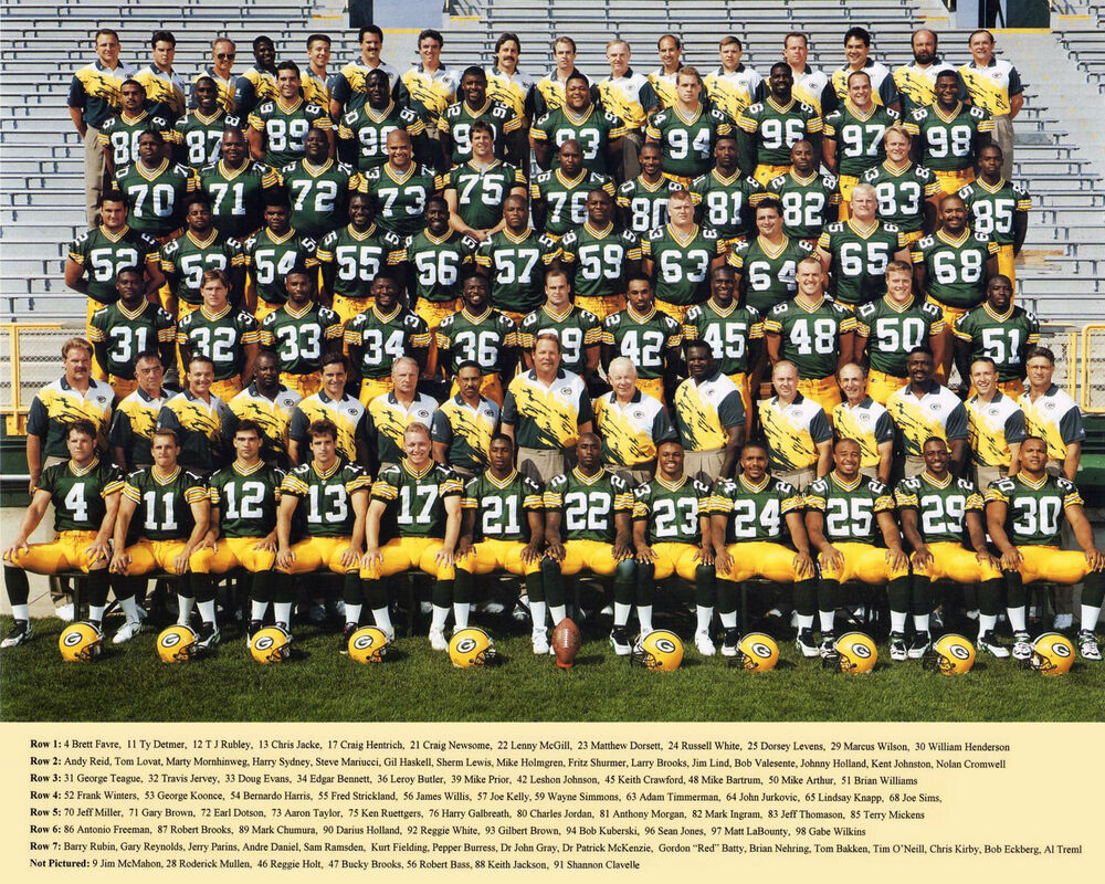 Green Bay Packers 1995 - 8x10 Color Team Photo | eBay