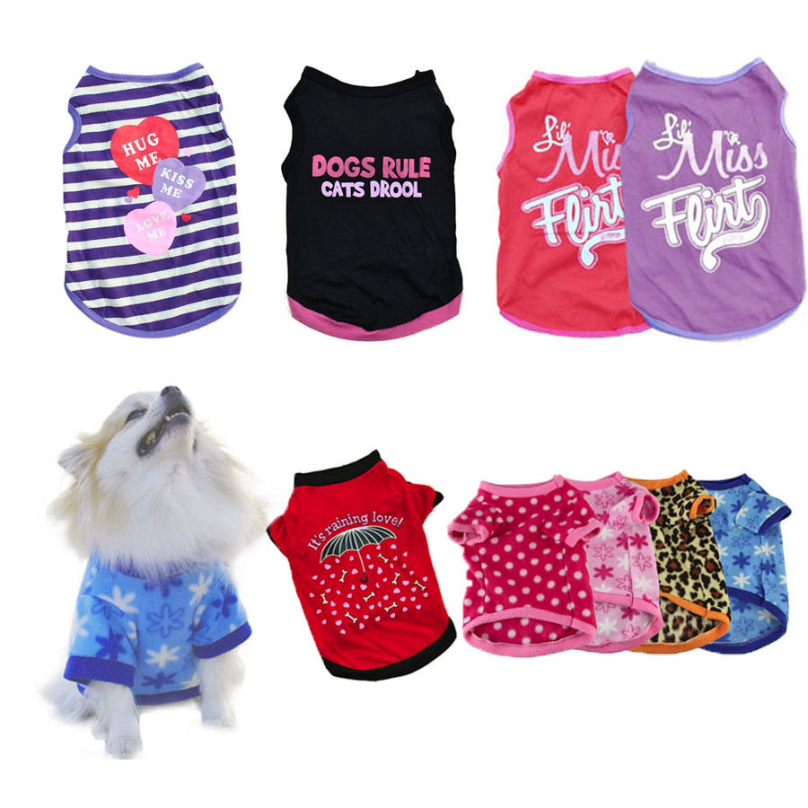 New Unisex Pet Dog Cat Clothing Summer Puppy Dogs Vest T
