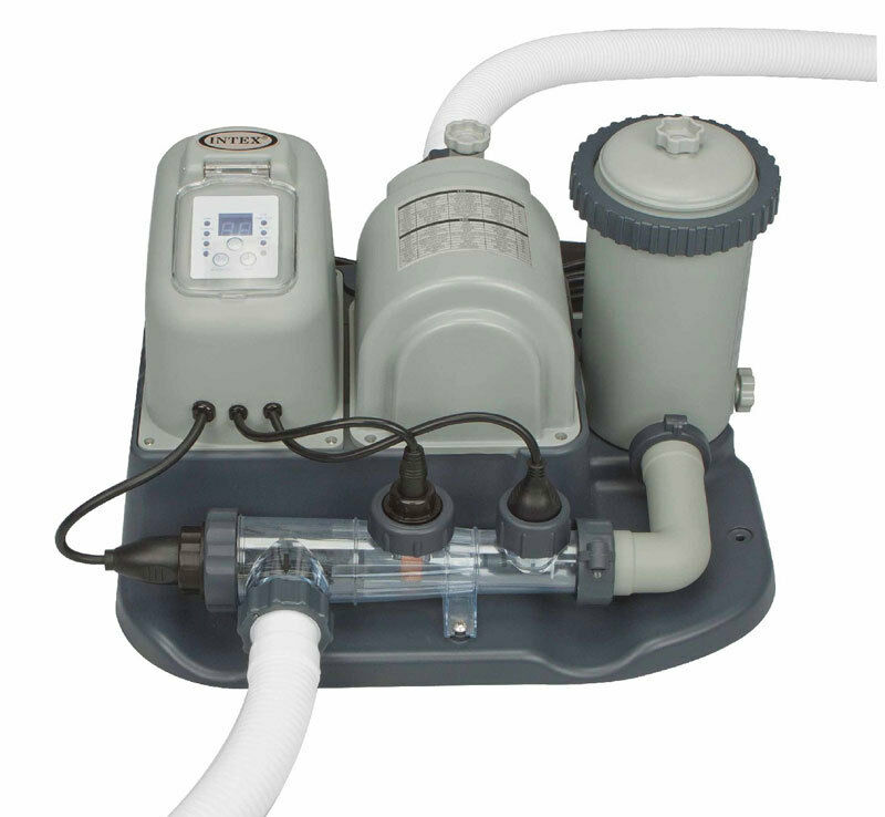 Intex Swimming Pool Cartridge Filter Pump Salt Chlorine Generator System 28673eg Ebay