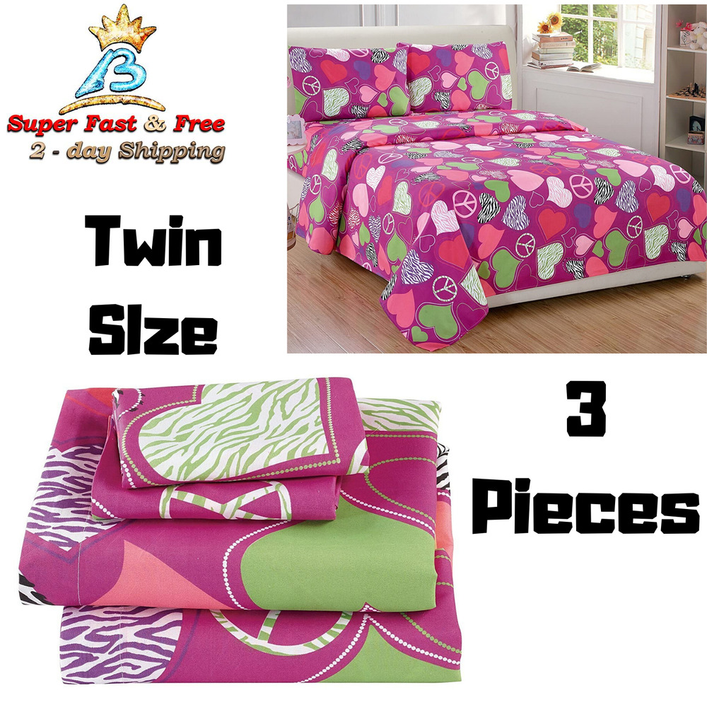 pink and zebra bedroom cheap sheet set size 3 pink purple zebra hearts 16699