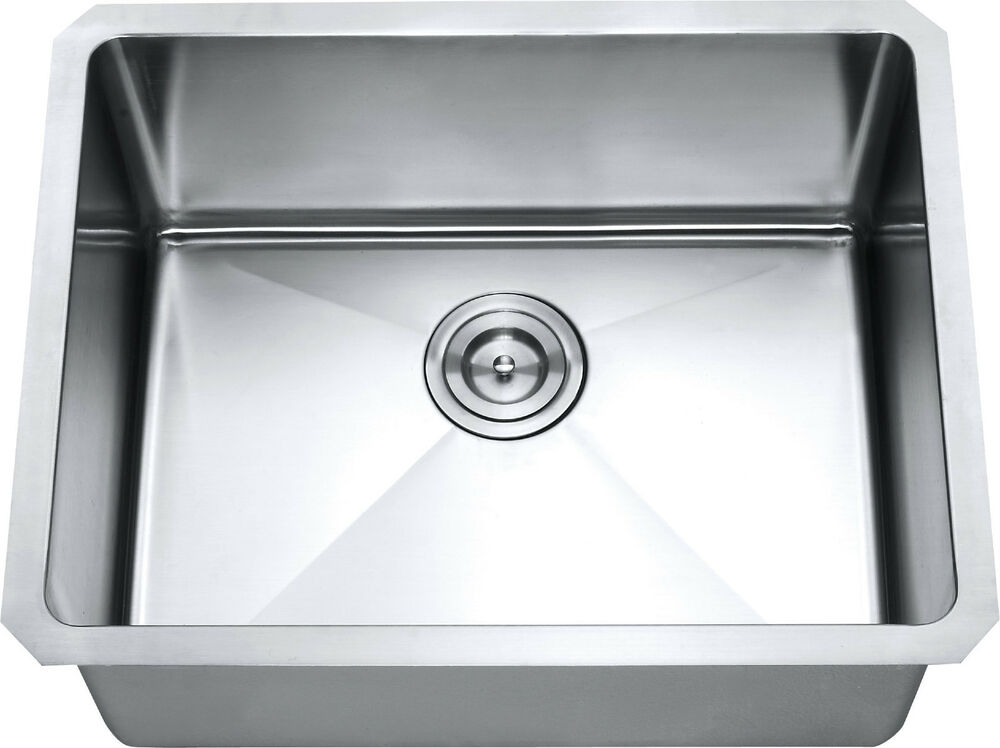 Z101 21 Quot X 16 Quot Single Bowl Stainless Steel Hand Made Undermount Kitchen Sink Ebay