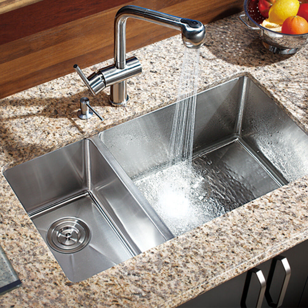 29 Inch Undermount Double Bowl Kitchen Sink