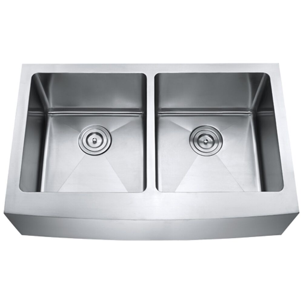 kitchen sinks stainless steel double bowl 33 quot made apron front kitchen sink stainless steel 9592
