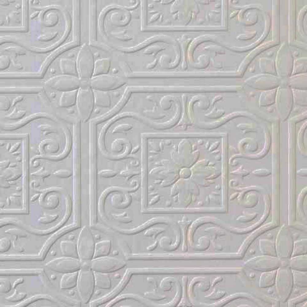 Faux tin ceiling tile textured paintable wallpaper 148 for Textured tile wallpaper