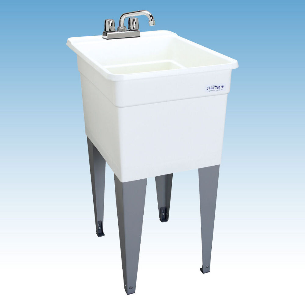 Basement Tub: SINGLE UTILITY SLOP SINK Narrow Laundry Tub Garage Bath