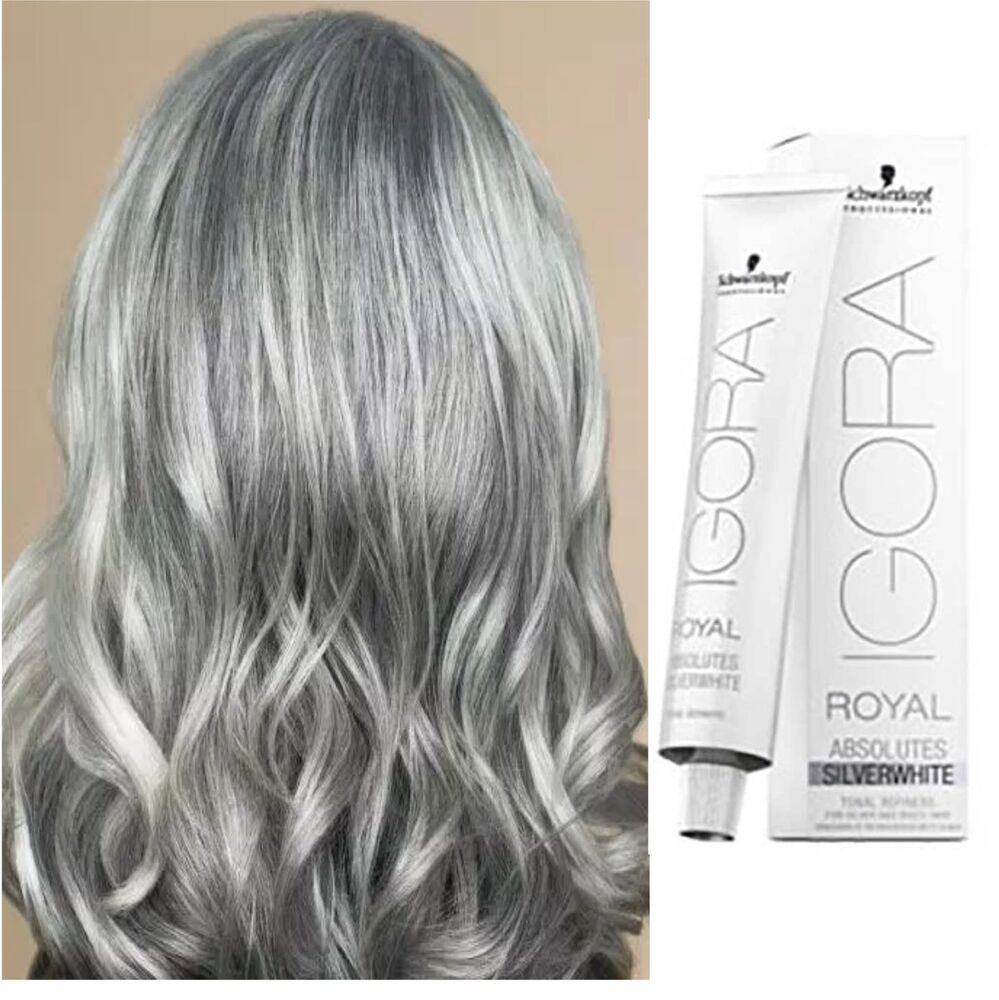 Igora royal hair colourants ebay grey gray white hair colour toner tint 60ml igora absolute whites nvjuhfo Gallery
