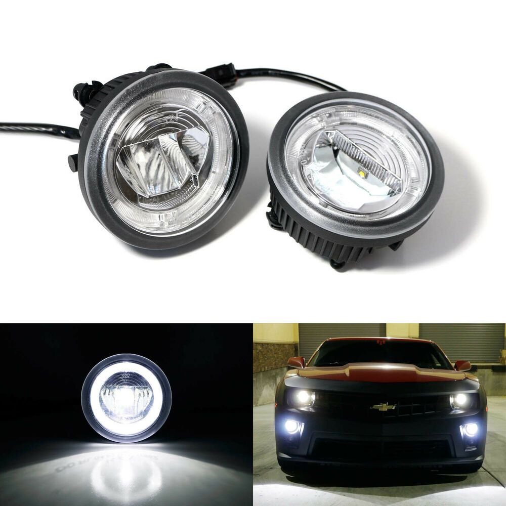 20w cree led halo ring daytime running lights fog lamps. Black Bedroom Furniture Sets. Home Design Ideas