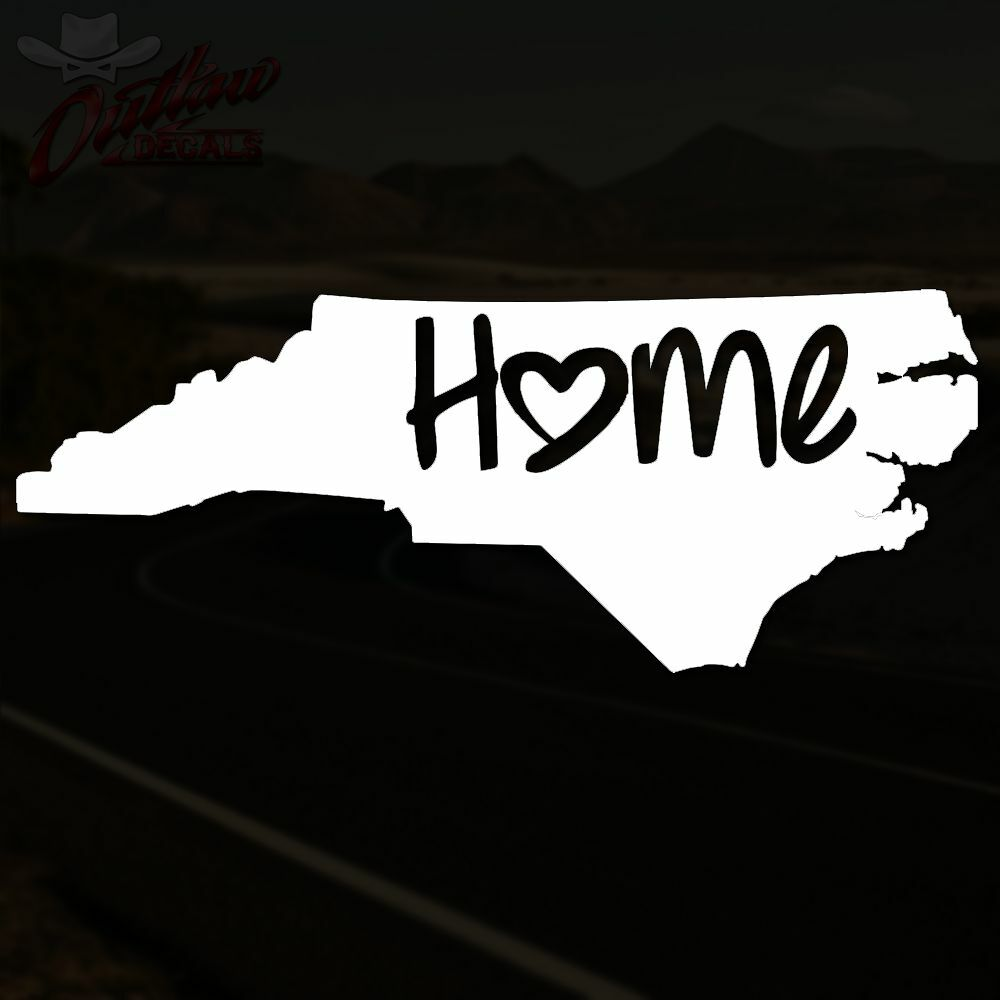 North Carolina Decal Raleigh Nc Home Love Sticker Pick
