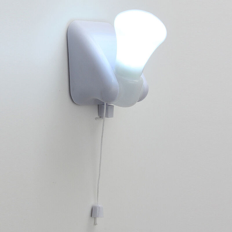 Wall Mounted Night Lights : Self Adhesive Night Handy LED Bulb Cabinet Wall Mount Table Lamp Light Battery eBay