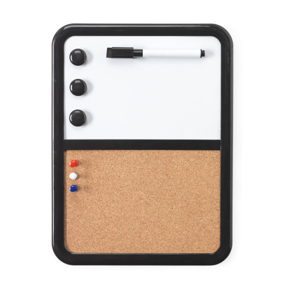 White magnetic pin cork board dry wipe marker pen memo for To do board for kitchen