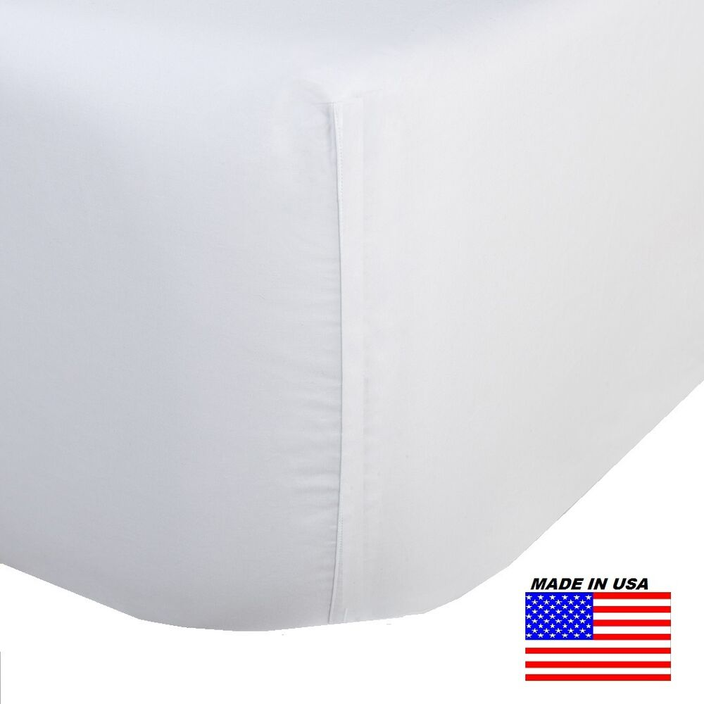 1 King Size White Fitted Sheet 78x80x12 T 250 Percale