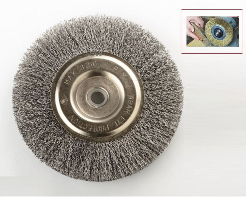 6 Quot Steel Wire Wheel Brushes For Bench Grinder 5 8 1 2