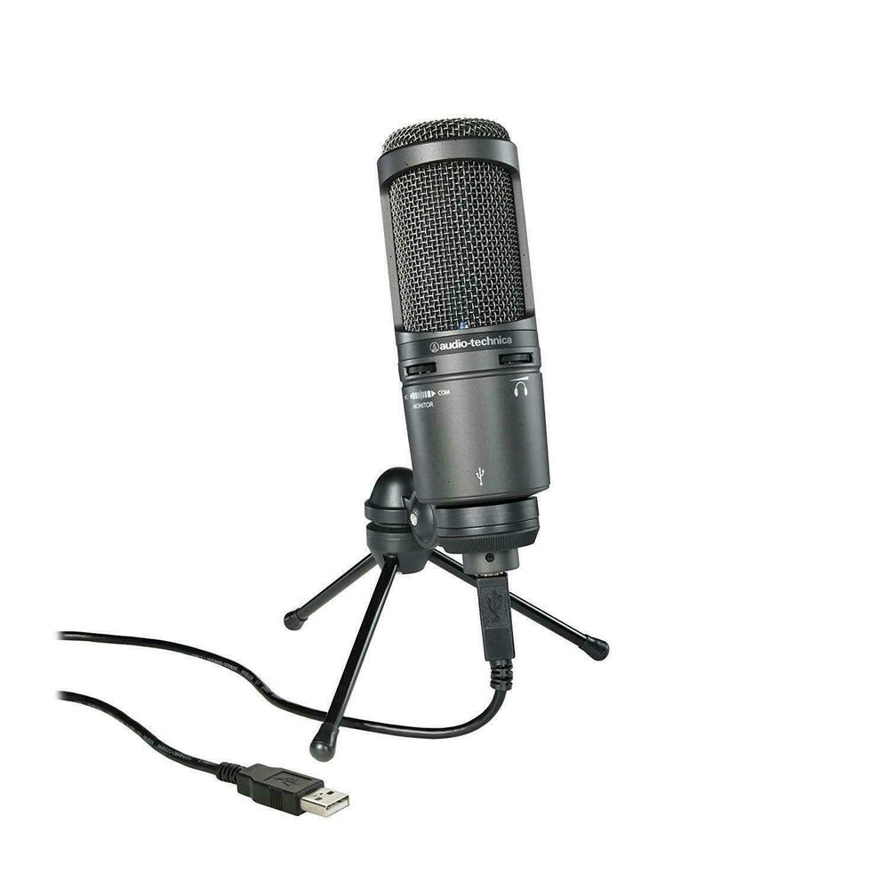 audio technica at2020usb plus cardioid condenser at2020 usb microphone 4961310118747 ebay. Black Bedroom Furniture Sets. Home Design Ideas