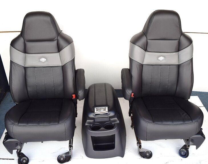 2005 2007 F250 Sd Harley Davidson Front Buckets Seats With Console Ebay
