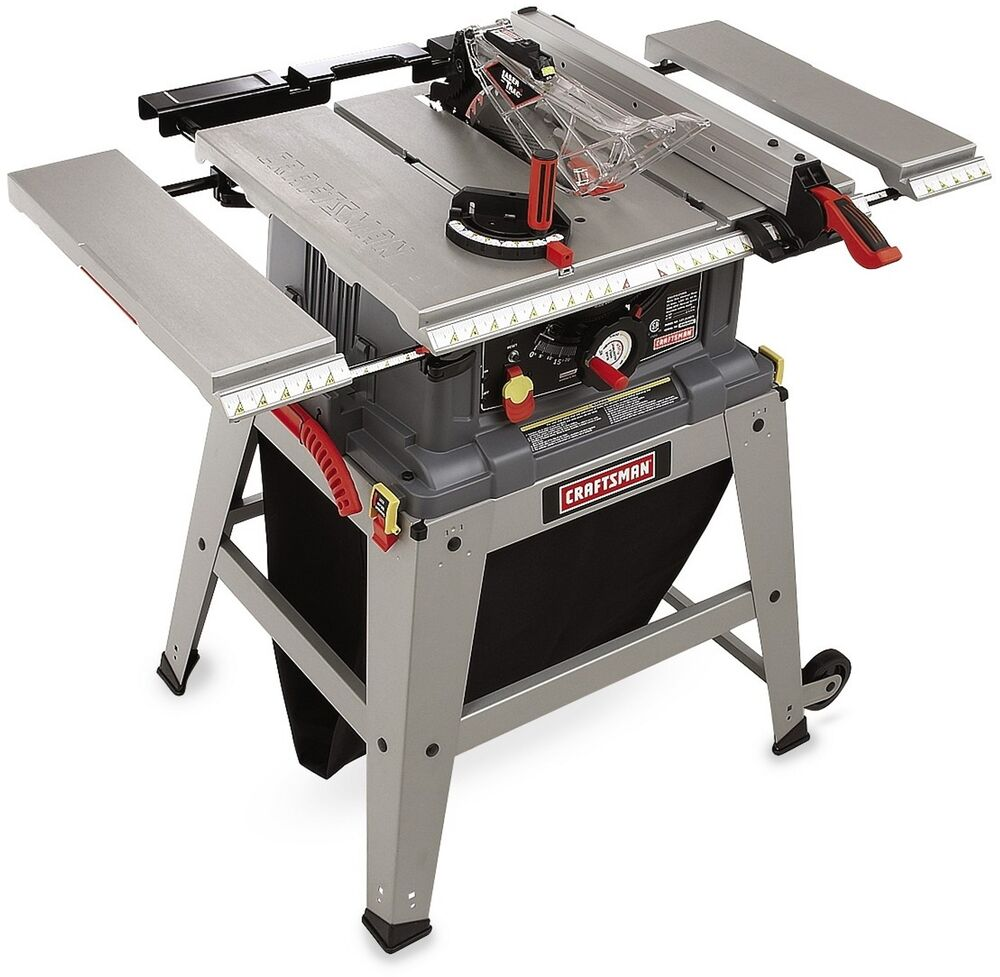 Craftsman Table Saw Laser Trac Precision Speed Clean Cut 15 Amp Motor 5 000 Rpm Ebay