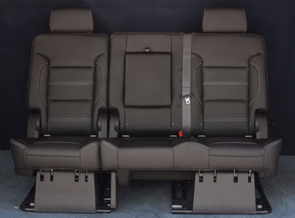2016 2015 Yukon Denali Black Leather Bench Seat Ebay