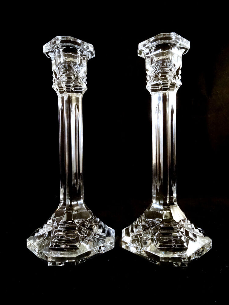 Tall waterford crystal 8 contemporary style candlesticks for Tall candle vases
