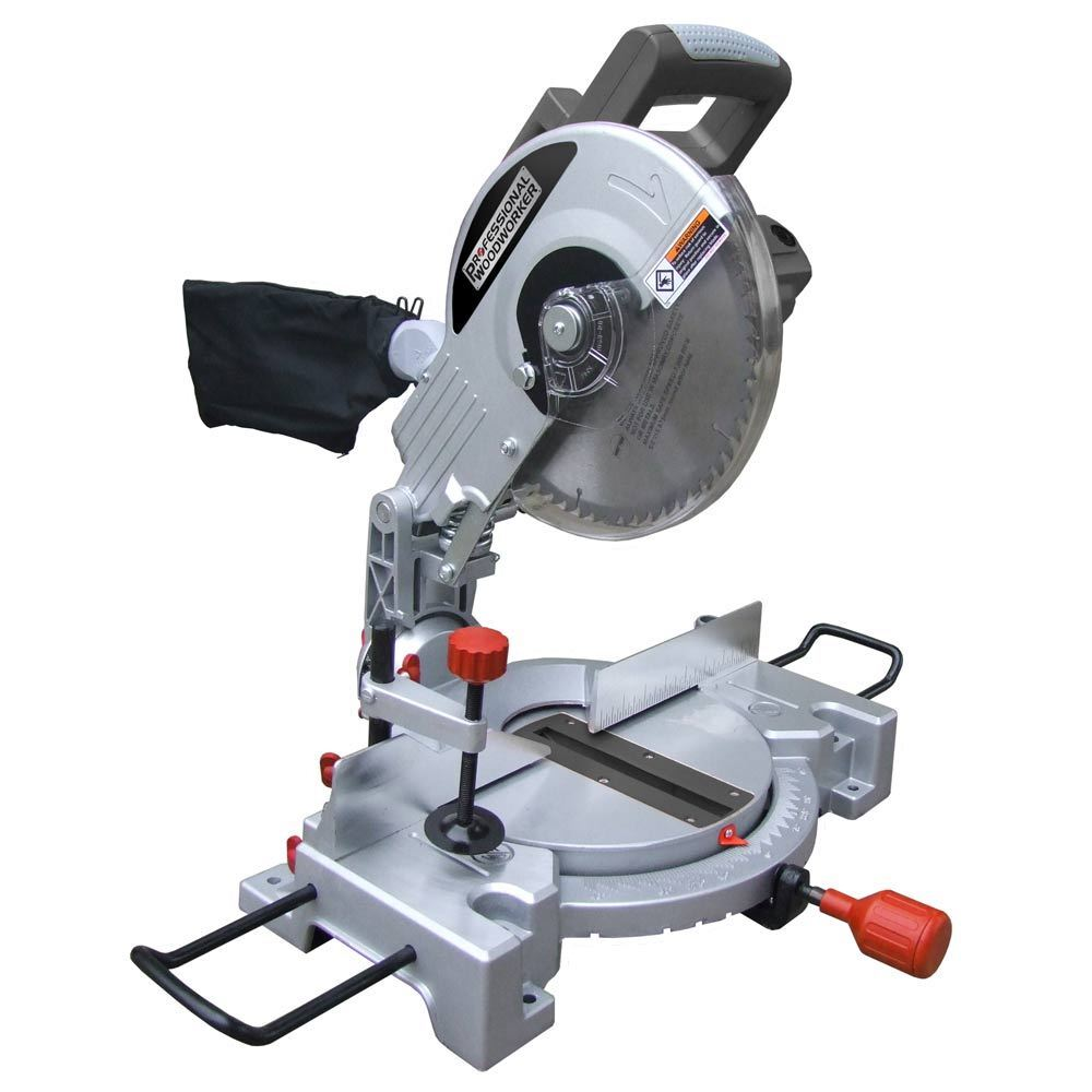 Professional woodworker 15a 10 inch compound miter saw for Gardening tools mitre 10