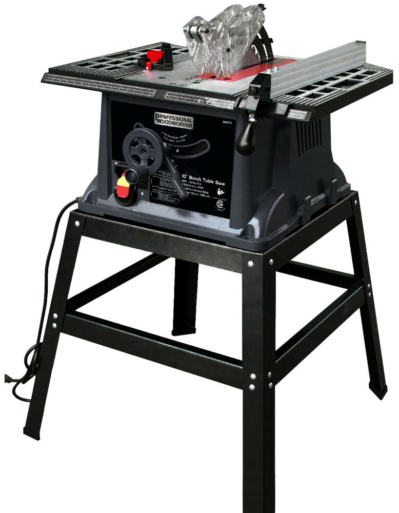 Professional Woodworker 10 034 13 Amp Industrial Bench Table Saw With Stand 8674 Ebay