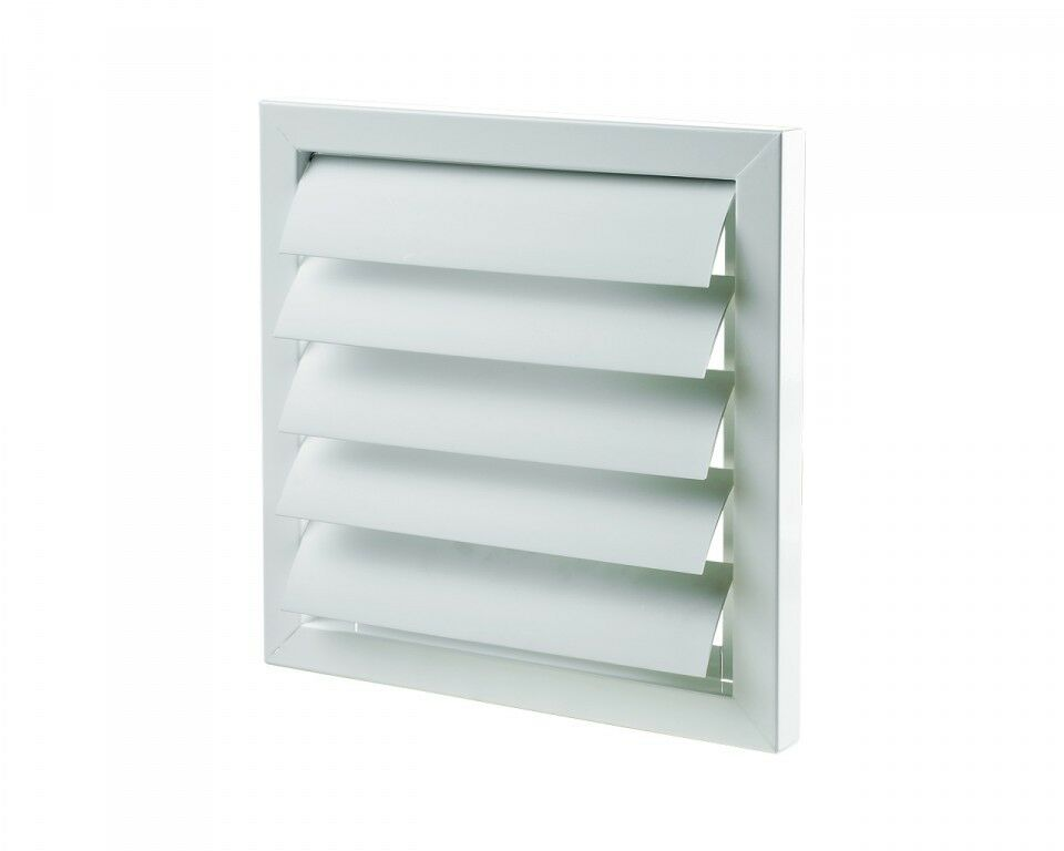 Air Vent Grille Cover Gravity Flap Shutter White Extractor