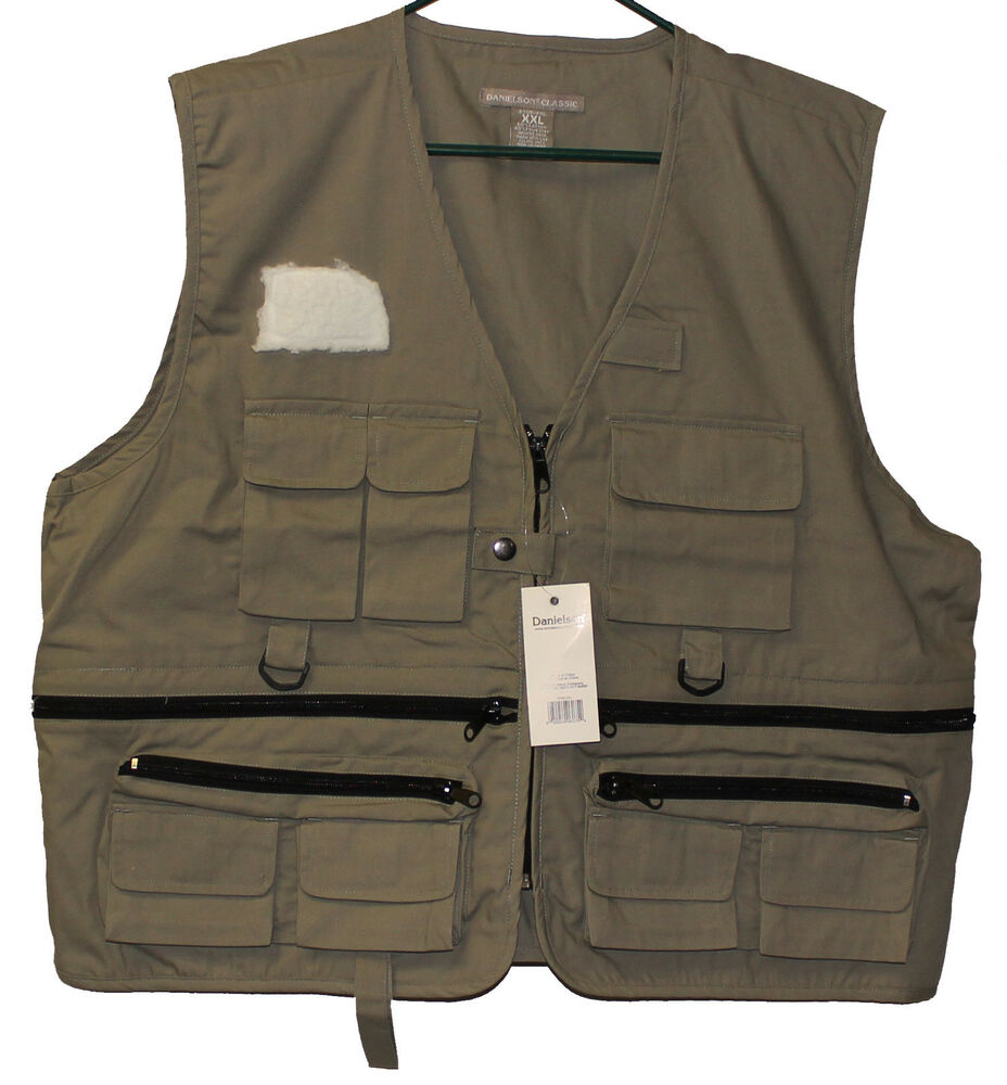 Danielson classic fly fishing vest 11 pouches pockets for Kids fishing vest