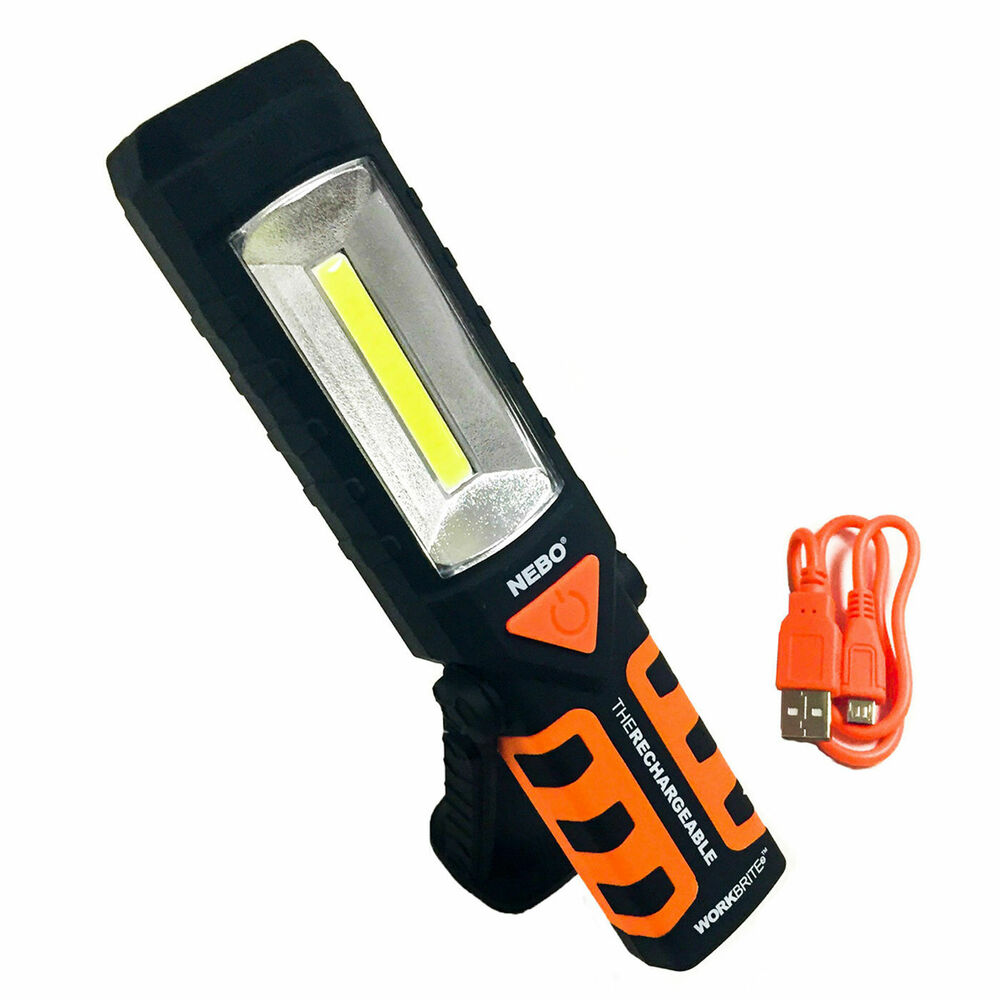 Led Work Light Magnet Lamp Torch Rechargeable Cordless: NEBO Workbrite 2 Rechargeable 220 Lumen LED Flashlight