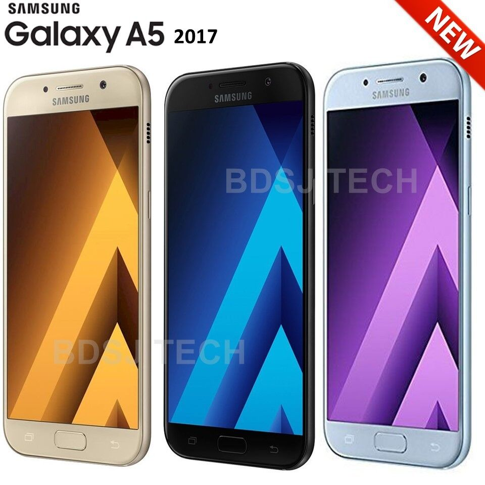 samsung galaxy a5 2017 32gb water resistant 4g lte dual sim unlocked gsm a520f ebay. Black Bedroom Furniture Sets. Home Design Ideas