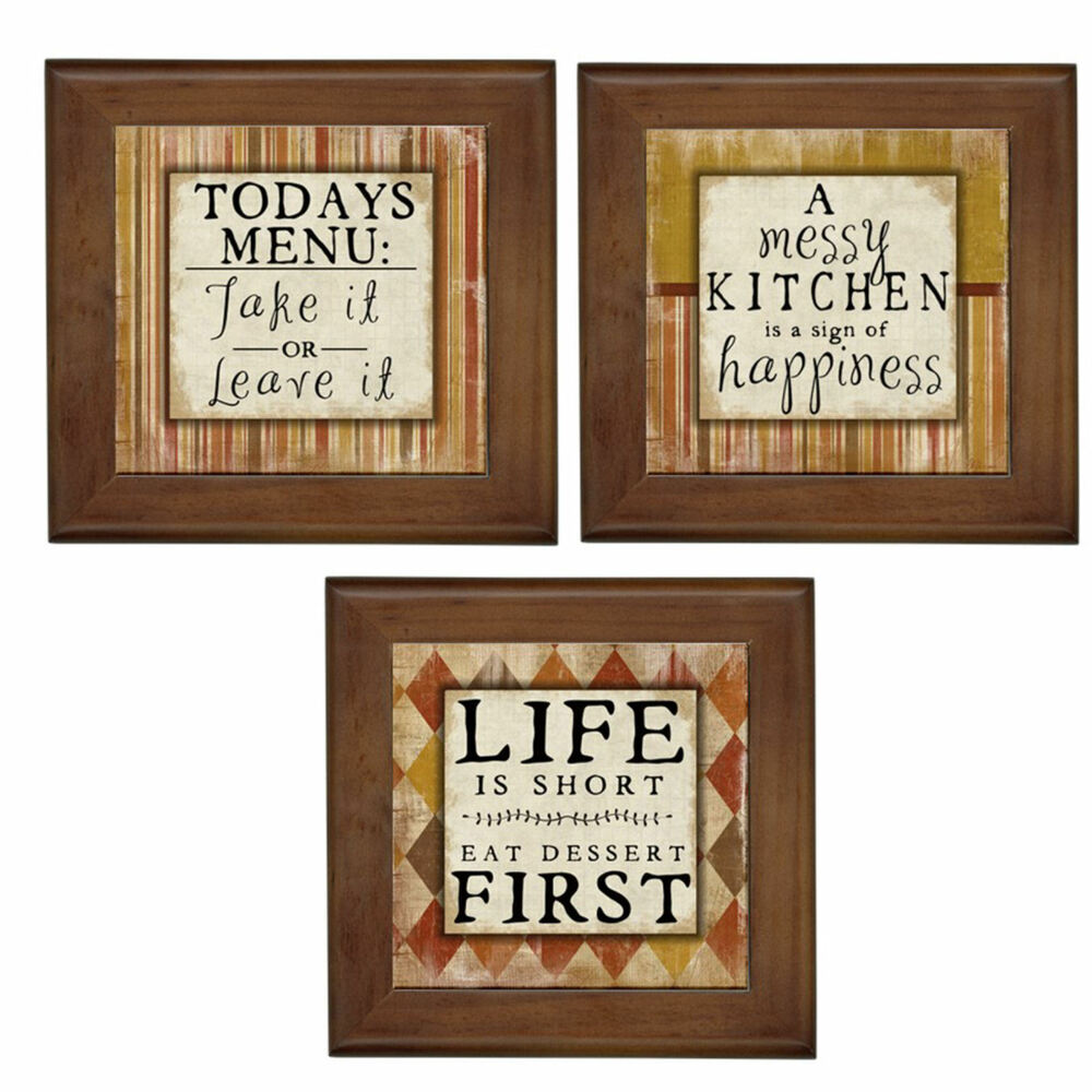 New kitchen home decor framed ceramic tile wall art tile for Home decor wall hanging