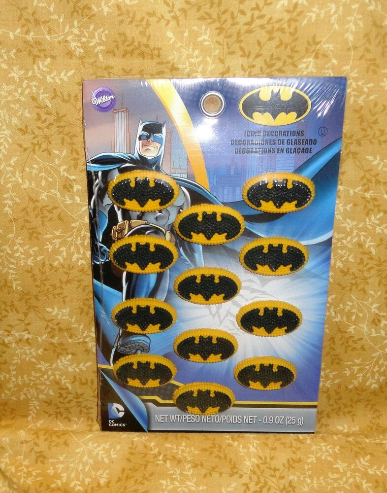 Batman Edible Sugarcupcake Toppers Cake Decorations Wilton