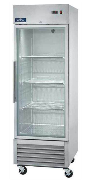 Arctic air agr23 23cf 1 door commercial stainless glass for 1 glass door refrigerator