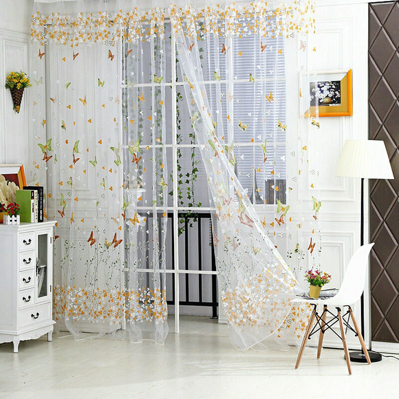 Sheer Curtain Room Divider