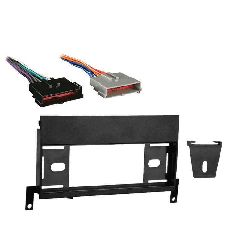fits ford f 150 1997 1998 single din stereo harness radio install dash kit ebay. Black Bedroom Furniture Sets. Home Design Ideas