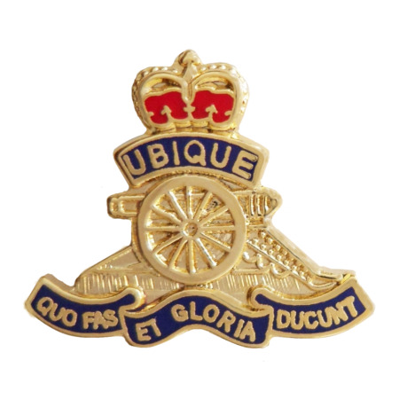 img-British Army Royal Regiment of Artillery Cut-Out Pin Badge - MOD Approved